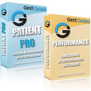logiciel osteopathe pack patient pro performance gestion facture graphique statistique