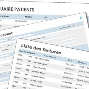 logiciel ostéopathes GestOstéo Patient copie écran édition
