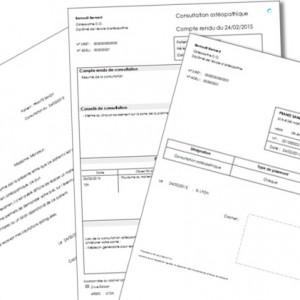 logiciel ostéopathes GestOstéo Patient PRO copie écran facture résumé consultation
