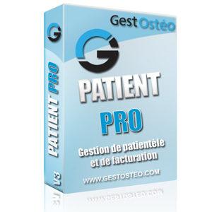 Solution logiciel GestOstéo PATIENT PRO gestion patient consultation facture ostéopathe
